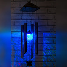 Load image into Gallery viewer, Colour Changing LED Solar Powered Wind Chimes Light Night Sensor
