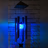 Colour Changing LED Solar Powered Wind Chimes Light Night Sensor