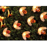 30 LED Bumble Bee Solar Fairy Lights - Warm White LED
