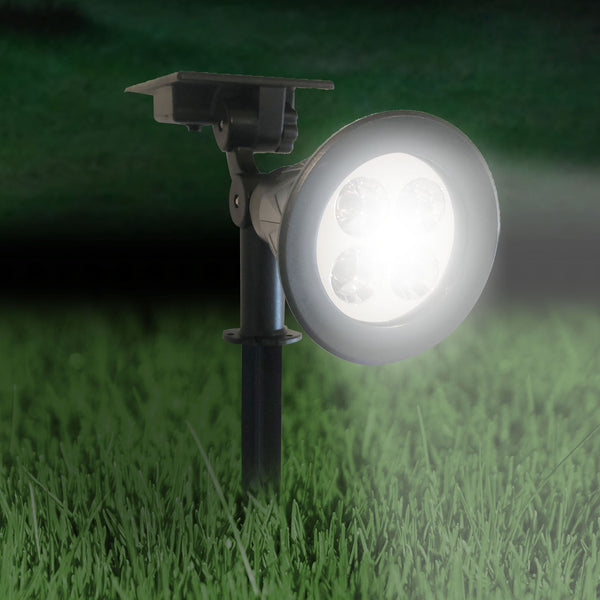 Halo - Premium Solar Spotlight with 4 Bright White LEDs