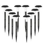 Halo XL Premium Solar Garden Stake Lights with Bright White LED (Set of 10)