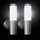 spv lights - solar wall lights (set of 2)