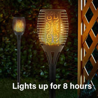 Olympia Solar Flame Torch Lights - 96 Flicker Flame LEDs (Set of 2)