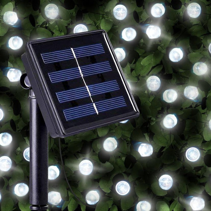 200 Bright White LED Solar Fairy Lights Christmas Outdoor String Bulbs