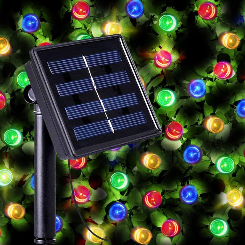 200 Multi Color LED Solar Fairy Lights Christmas String Lights Outdoor