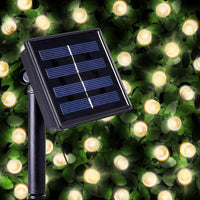 100 Warm White LED Solar Fairy Lights - Christmas String Light Outdoor