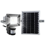 Super Bright LED Solar Security Light in Black Outdoor LED Bulb