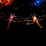 50 Multi-Colour LED Dragonfly Solar Fairy Lights