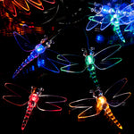 100 Multi-Colour LED Dragonfly Solar Fairy Lights