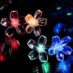 100 Multi-Colour LED Blossom Flowers Solar Fairy Lights