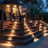 Solar Powered Fence & Decking Lights (Set of 4)