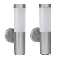 Oscar X - Contemporary Stainless Steel Solar Powered Wall Light (Set of 2)