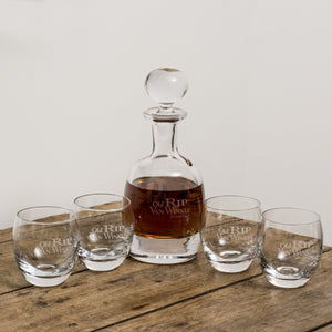 Van Winkle Bourbon Decanter and Rocks Glasses for Whiskey