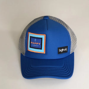 Custom Pappy & Company Kids' bigtruck® Trucker Hat in Royal Blue