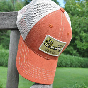 Vintage Bourbon Label Orange Trucker Hat