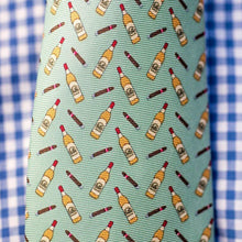 Men's Necktie Bourbon & Cigars in Green
