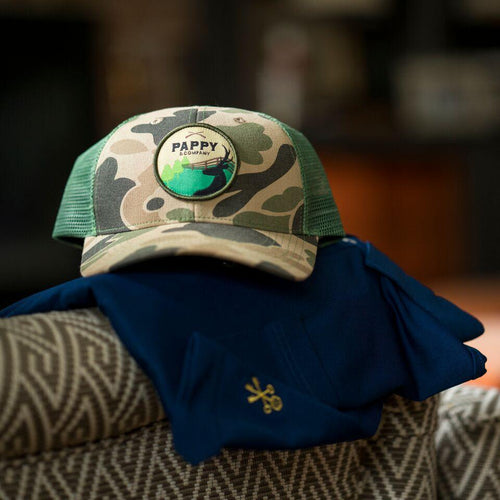 Retro Camo Trucker Hat for Hunters