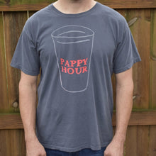 Grey Men's T-Shirt With Pappy Hour Shatterproof Cup