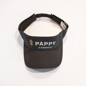 Pappy & Company Cotton Twill Visor in Graphite Grey