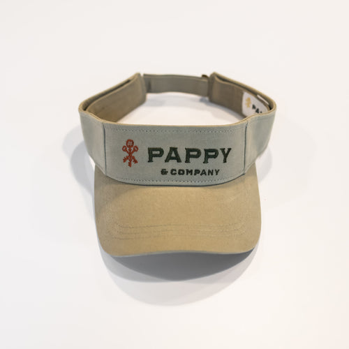Pappy & Company Cotton Twill Visor in Khaki