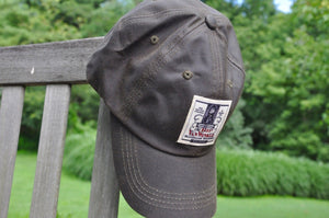 Olive Waxed Cotton Bourbon Baseball Cap Hat