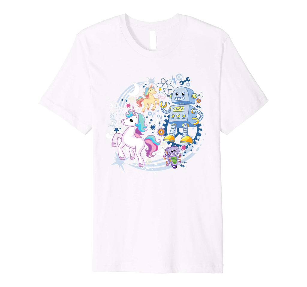 Robots and Unicorns T-shirt KIDS LARGE