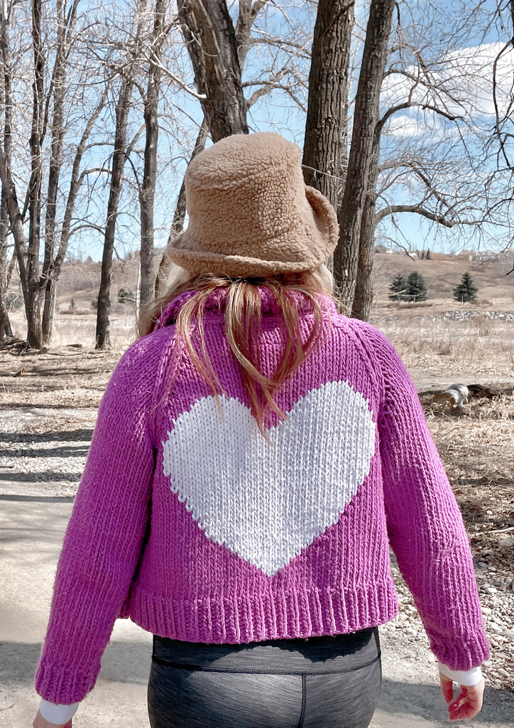 Classic Short Heart Cardi in Cotton