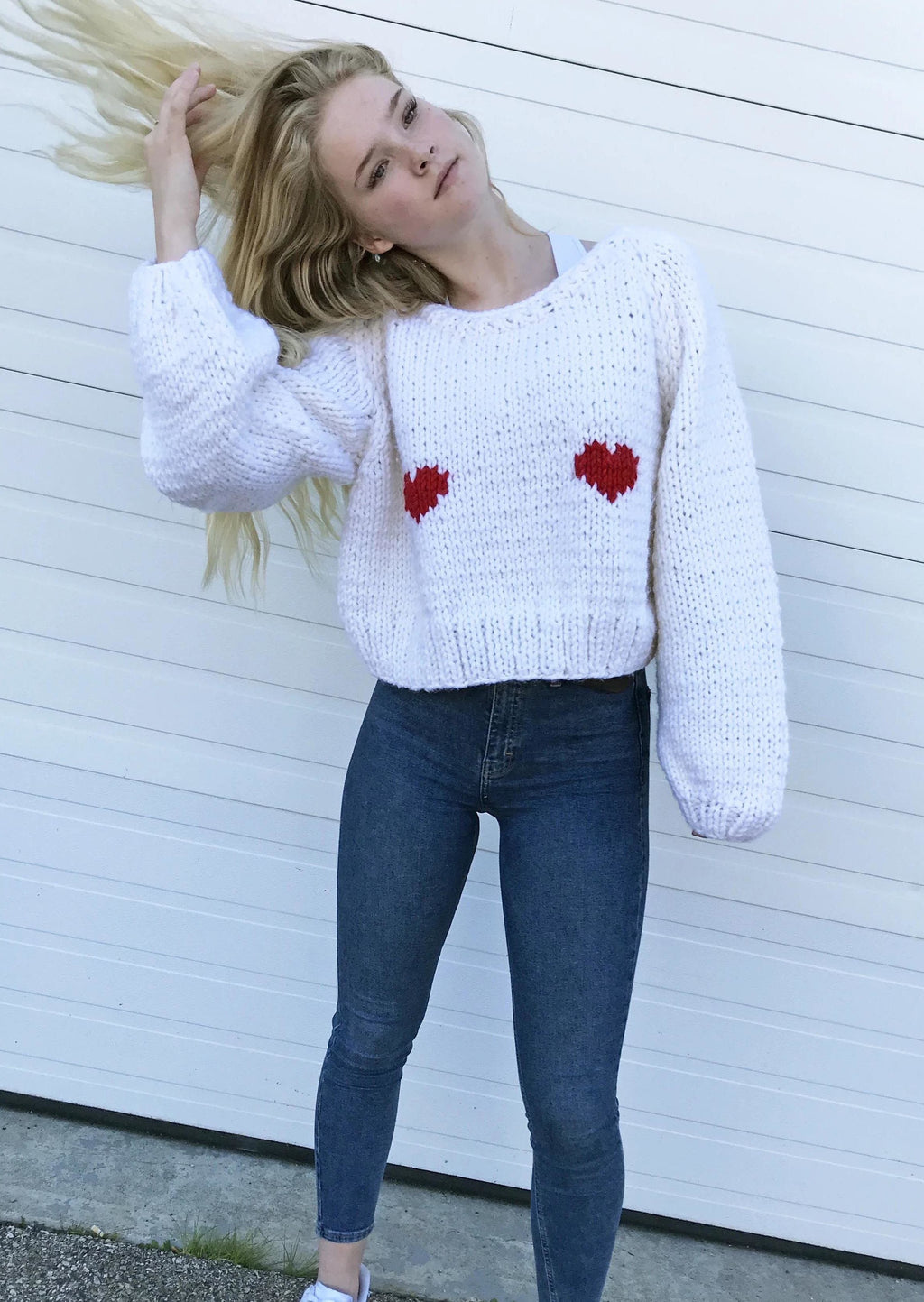 2 Hearts Pullover-Pullover-GOGO Sweaters-GOGO Sweaters
