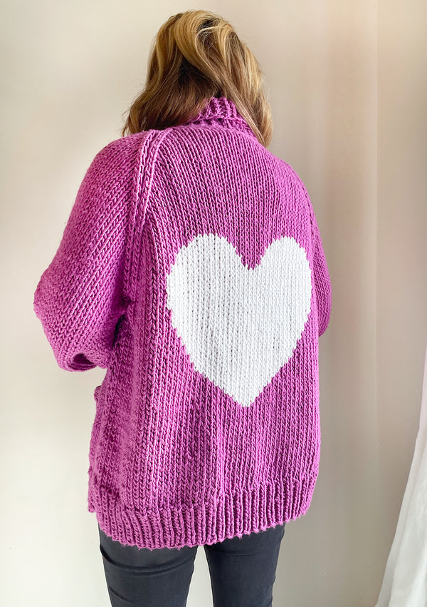 Long Heart Jacket in Cotton