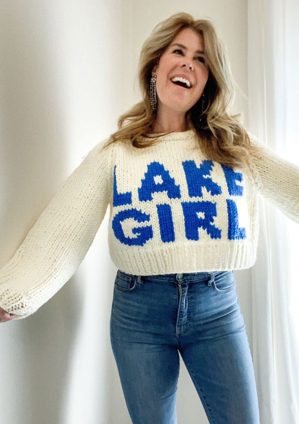Crop LAKE GIRL Pullover