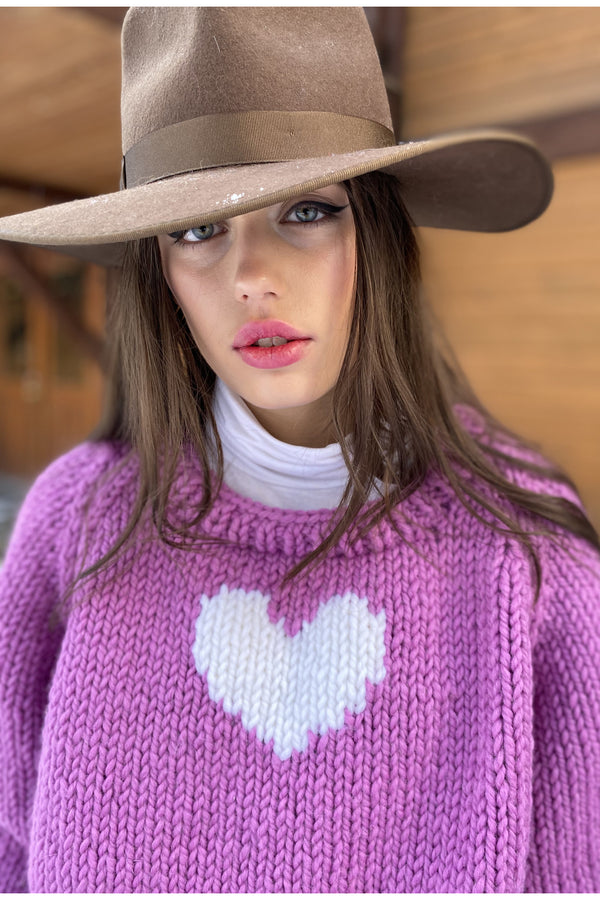 Orchid Heart Pullover