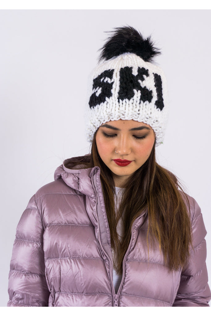 SKI Toque with removable POM
