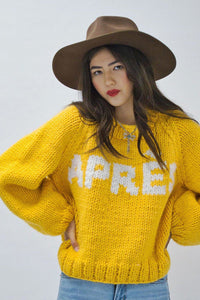 APRÈS Pullover-Sweaters-GOGO Sweaters-Gold/White-GOGO Sweaters