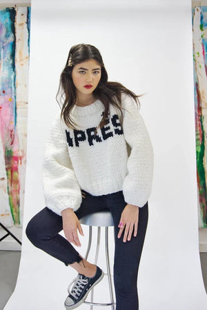 APRÈS Pullover-Sweaters-GOGO Sweaters-White/Black-GOGO Sweaters