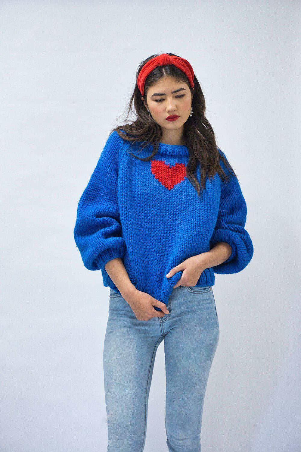 Heart Pullover-Sweaters-GOGO Sweaters-GOGO Sweaters
