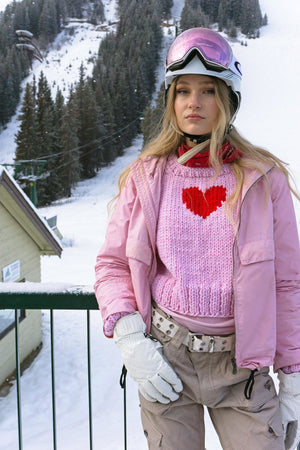 Heart Pullover-Sweaters-GOGO Sweaters-Pink-GOGO Sweaters