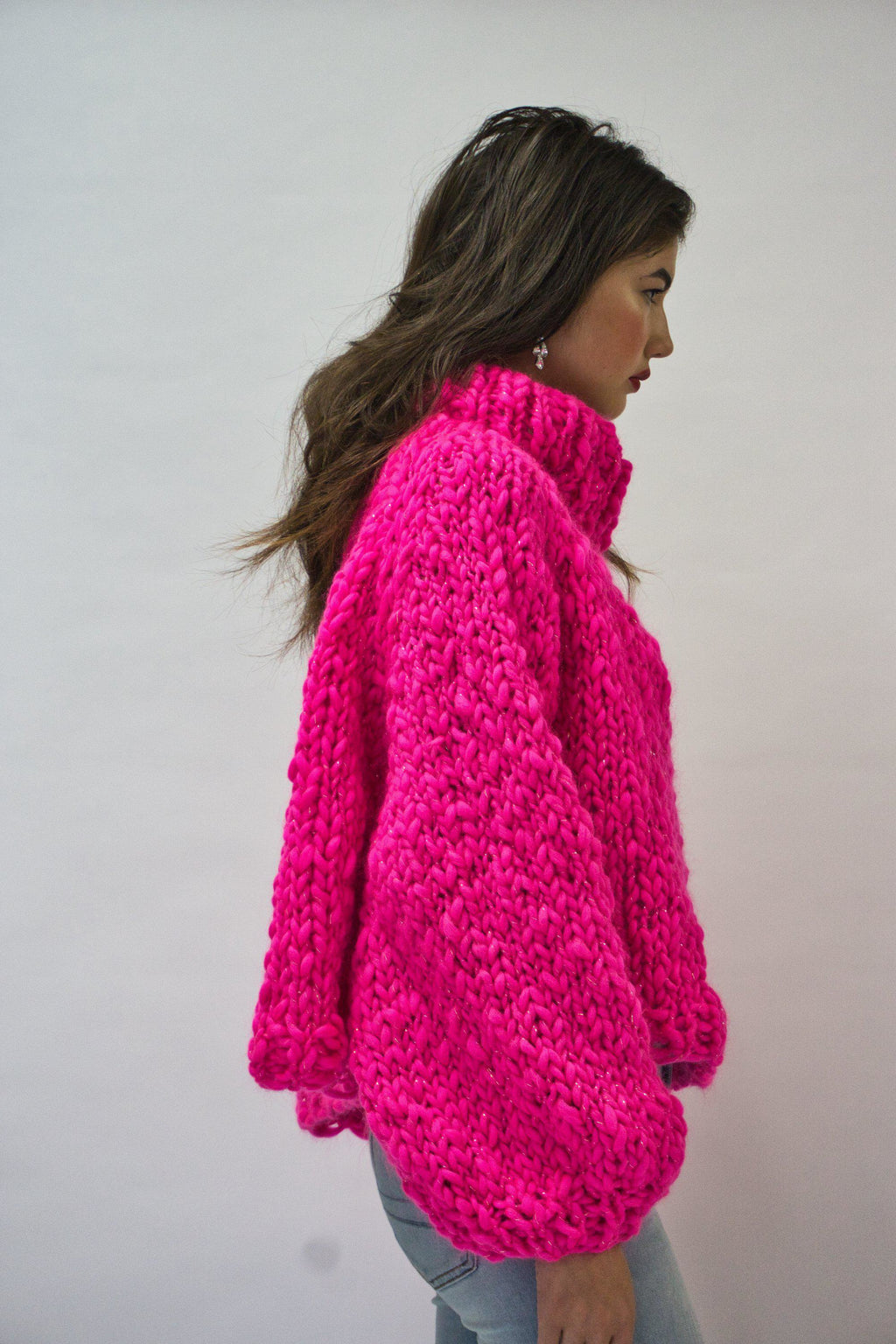 Textured Turtleneck-Sweaters-GOGO Sweaters-GOGO Sweaters