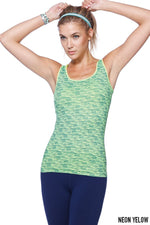 Stretchy and comfortable Tank Top in Melange Sublimation (Yellow/Green)