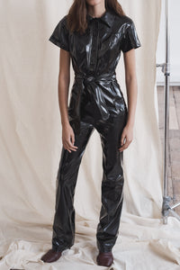 """Eva"" Vegan Leather Jumpsuit"