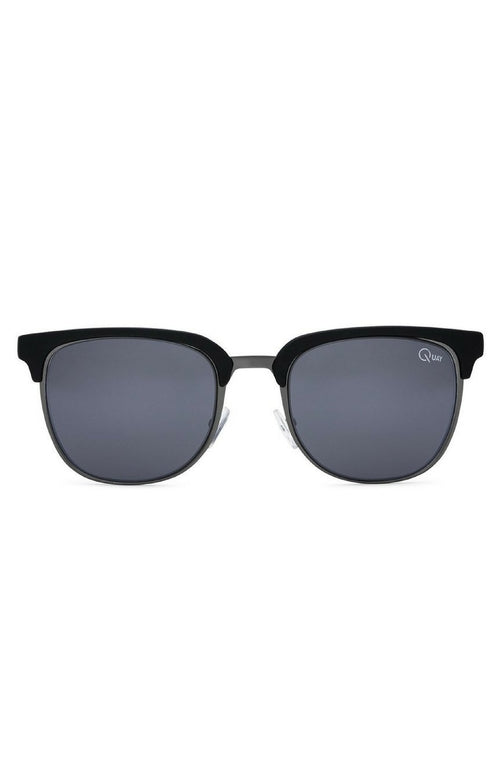 Quay Australia Flint Sunglasses (Black/Smoke)