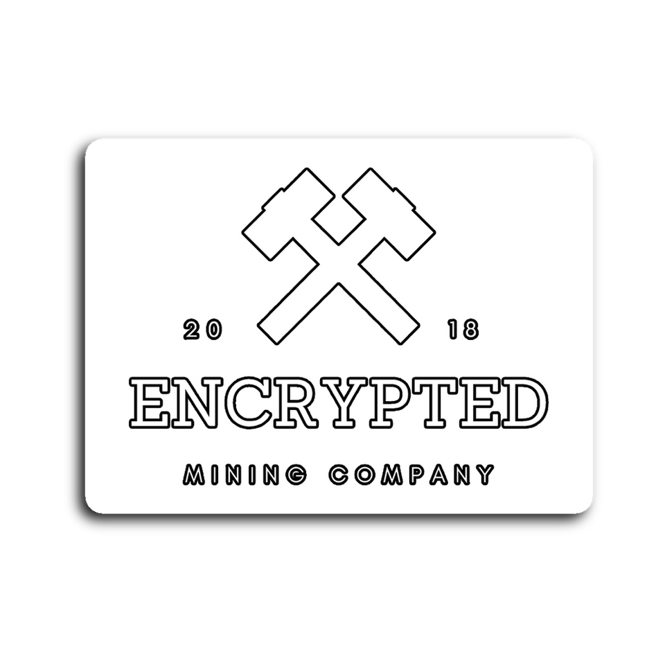 Encrypted Mining Co. Sticker