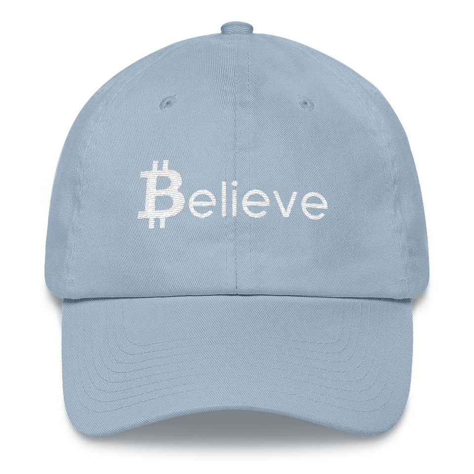 Believe in Bitcoin Dad Hat