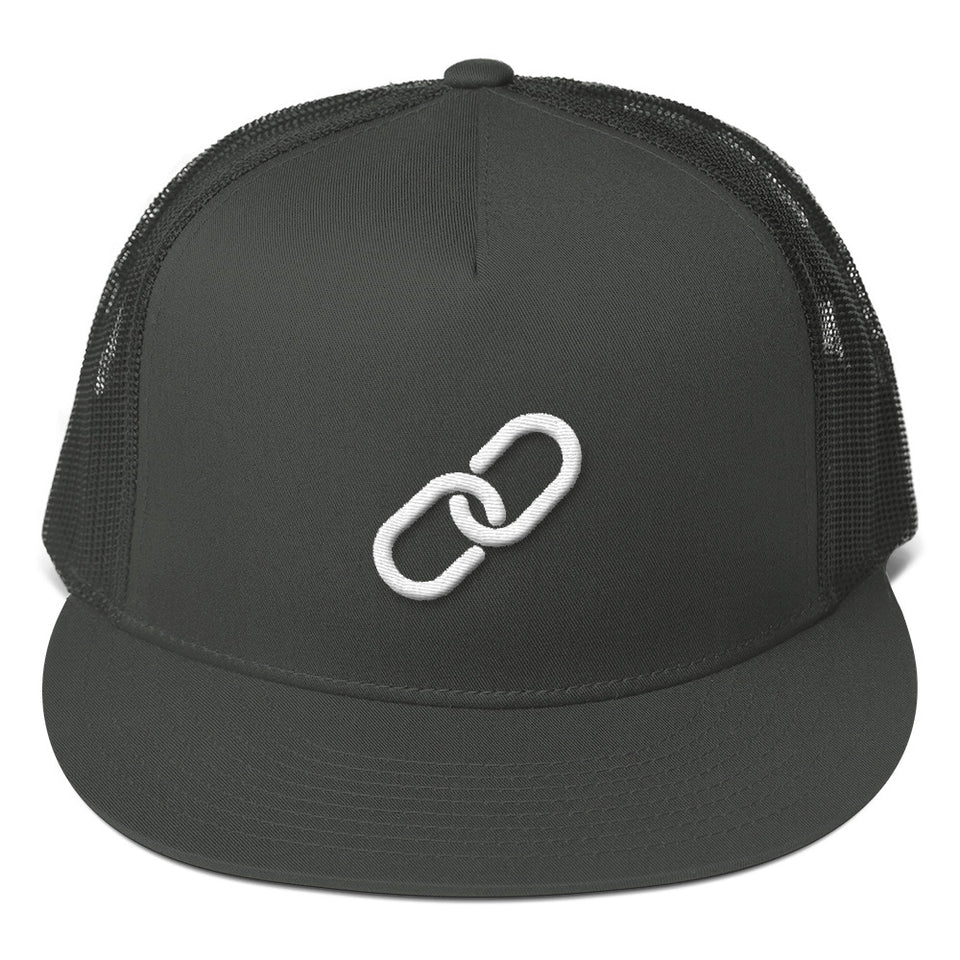 Encrypted Chain Trucker Hat (3D Puff)