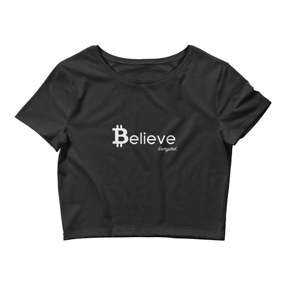 Believe in Bitcoin Croptop - Encrypted Apparel