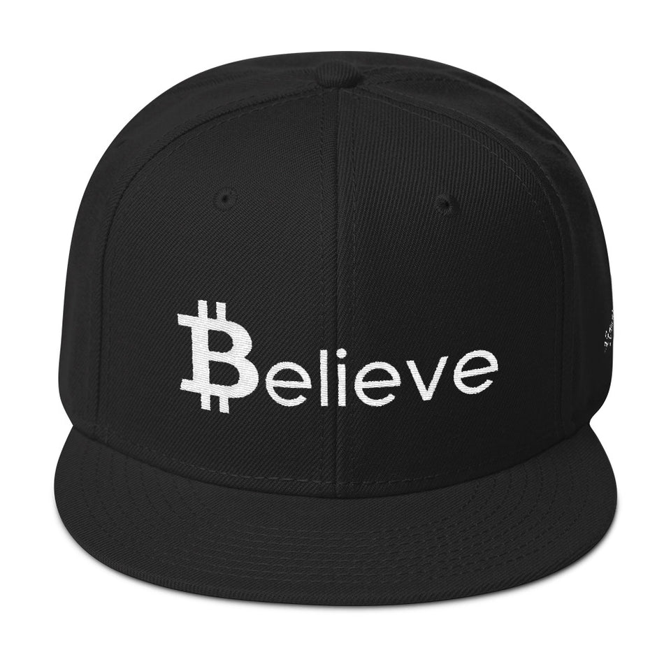 Believe in Bitcoin Snapback - Encrypted Apparel