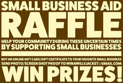 SMALL BUSINESS AID RAFFLE with SHIP JOHN