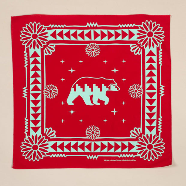 Naasgó, Forward Movement Bandana Red + Turquoise