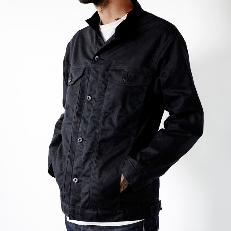Wax Canvas Rider Jacket Black