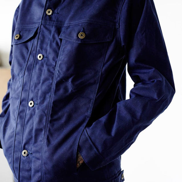 Wax Canvas Rider Jacket Navy