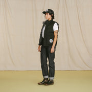Strawberry Down Vest Midnight